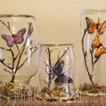 تزئین کردن زیبای شیشه با چوب و پروانه +تصاویر
