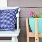 روشی آسان برای ساخت پایه گلدان با چوب +تصاویر