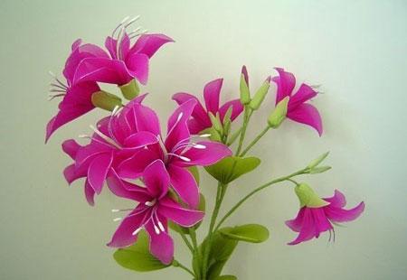 آموزش درست کردن گل با جوراب های رنگی +تصاویر