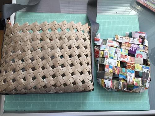 کیف کاغذی |آموزش درست کردن کیف کاغذی با رول دستمال کاغذی