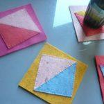 آموزش درست کردن زیرلیوانی با پارچه رنگی +تصاویر