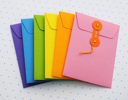مراحل درست کردن پاکت نامه با کاغذ رنگی +تصاویر
