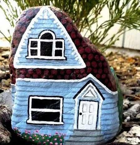 آموزش طرح خانه روی سنگ