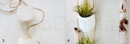 چگونه با بطرب پلاستیکی گلدان درست کنیم +تصاویر