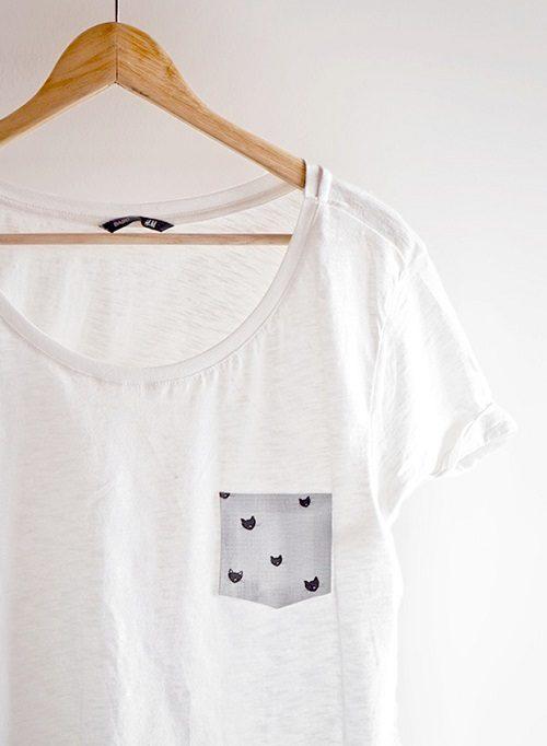 درست کردن جیب برای تی شرت بدون دوختن با پارچه +تصاویر