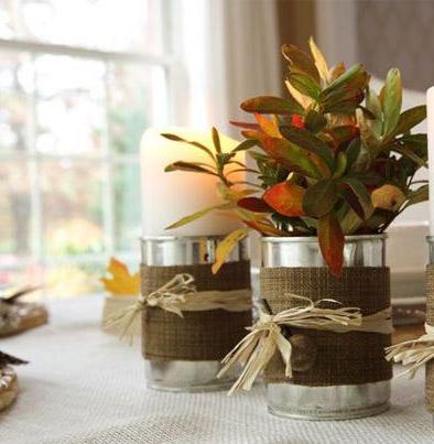 چگونه با قوطی کنسرو گلدان بسازیم ؟+تصاویر