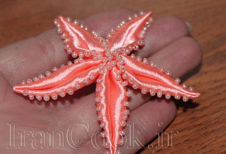 آموزش درست کردن ستاره دریایی با روبان +تصاویر
