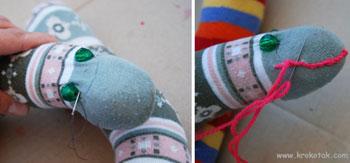 ساخت عروسک مار با جوراب شلواری بچهگانه +تصاویر