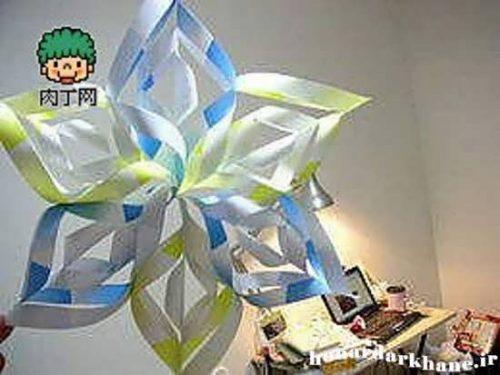 ایده ای جالب برای ساخت کاردستی با کاغذ رنگی +تصاویر