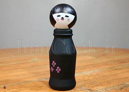 درست کردن عروسک ژاپنی با بطری پلاستیکی +تصاویر