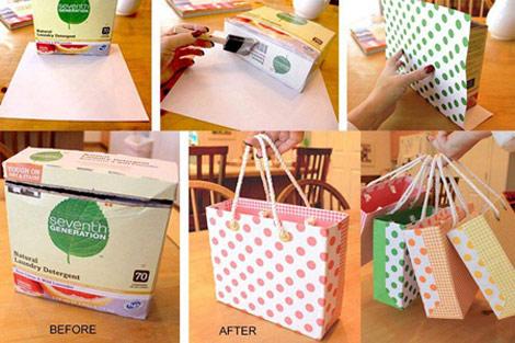 با جعبه دورریختنی ساک هدیه درست کنید +تصاویر
