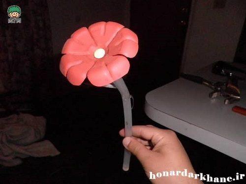 آموزش درست کردن گل تزئینی با وسایل دورریختنی +تصاویر