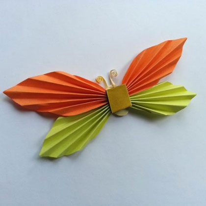 پروانه های کاغذی زیبا برای کودکان درست کنید +تصاویر