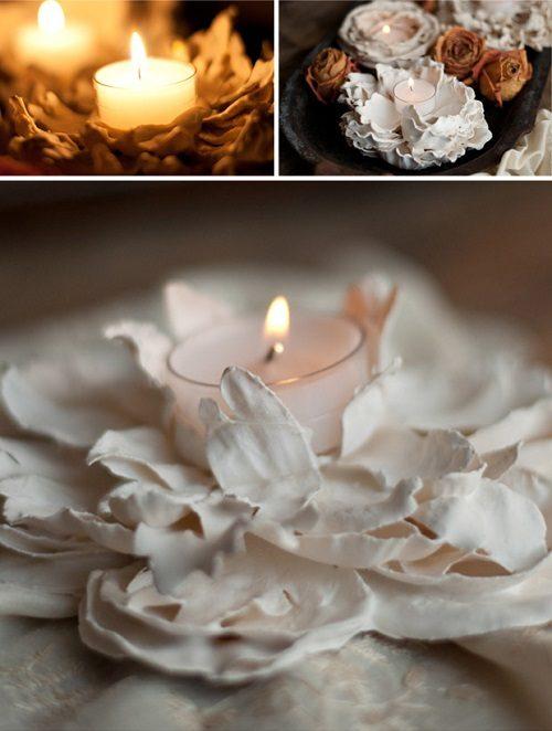 درست کردن جاشمعی زیبای گچی با گل مصنوعی +تصاویر