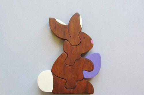 آموزش درست کردن پازل چوبی به شکل خرگوش +تصاویر