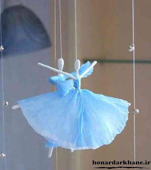 با دستمال کاغذی عروسک تزئینی درست کنید