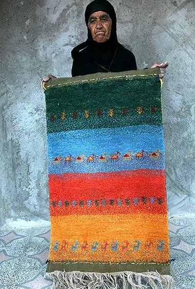 بافت گبه توسط زنان عشایر