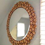 تزئین جالب آینه با چوب درخت +تصاویر