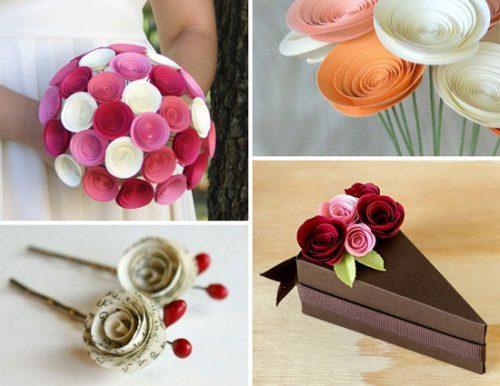 آموزش ساخت گل رز کاغذی +تصاویر
