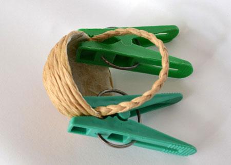 آموزش درست کردن سبد کوچک با نخ کنفی +تصاویر