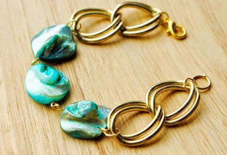 آموزش درست کردن دستبند تزئینی با مهره +تصاویر
