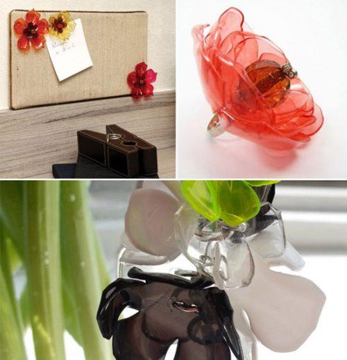 آموزش ساخت گل با بطری های پلاستیکی +تصاویر