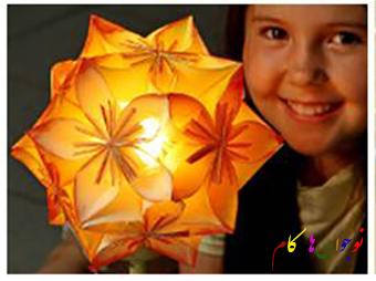 آموزش درست کردن آویز کاغذی به شکل گل+تصاویر