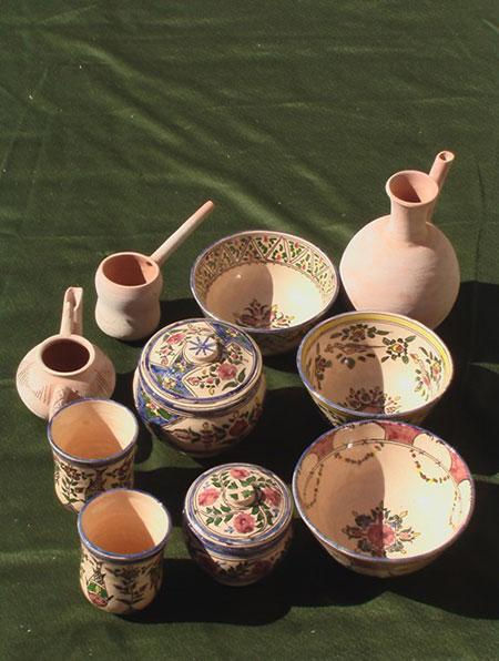 صنعت سفالگری در روستای مند