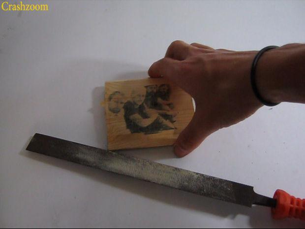 آموزش چاپ روی چوب