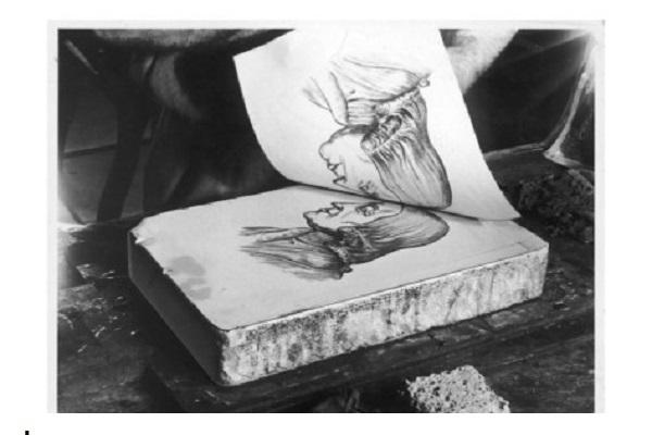 تاریخچه چاپ سنگی