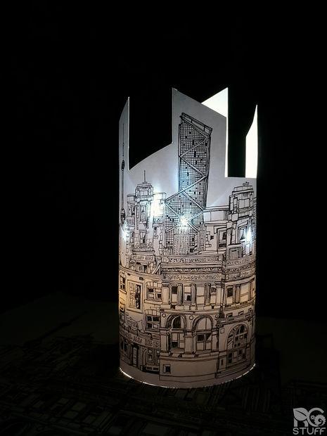 آموزش جالب درست کردن لامپ با کاغذ