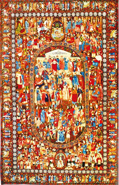 فرش مشاهیر   یکی از زیباترین و ماندگارترین فرشهای جهان
