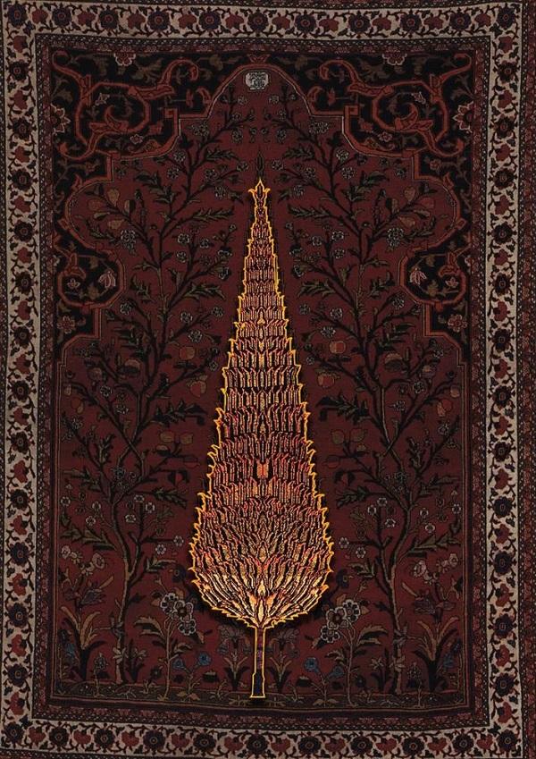 نقش درخت در فرش