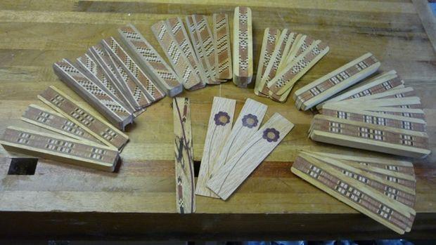 کاردستی نشانه کاغذ چوبی