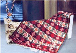 آشنایی با گلیمچه متکازین از دستبافته های مازندران