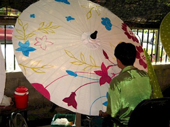تاریخچه ساخت چترهای تزئینی در تایلند