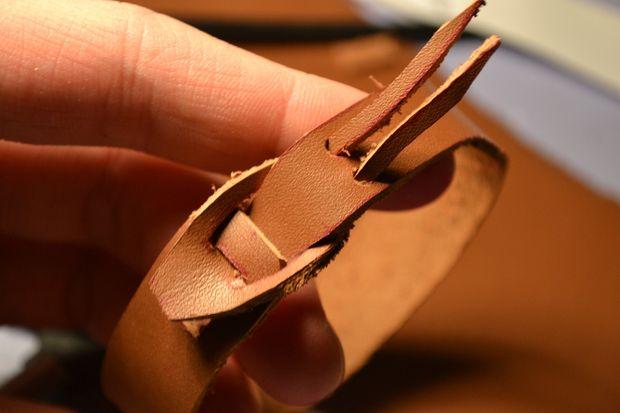 درست کردن دستبند چرمی