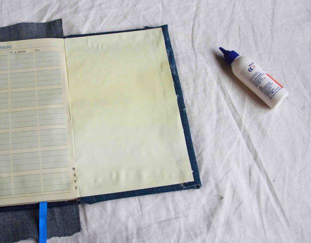 درست کردن دفترچه با جلد پارچه ای