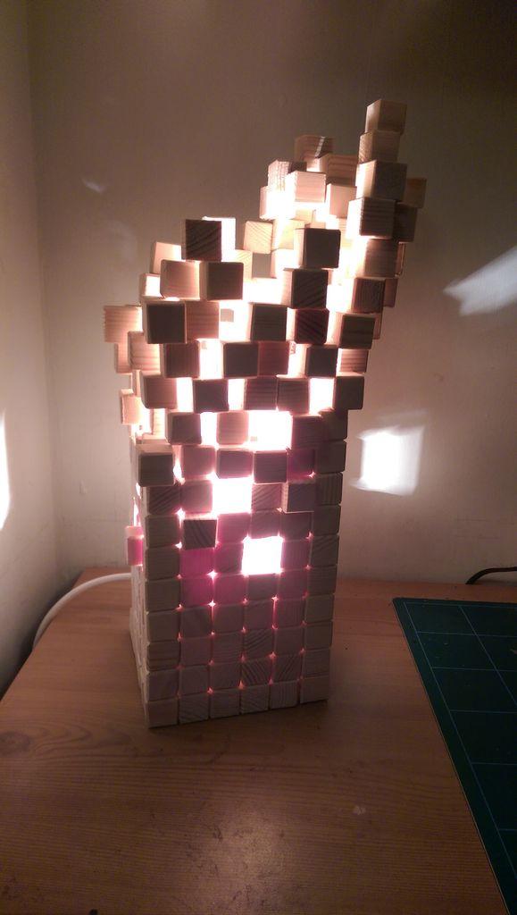 درست کردن چراغ خواب چوبی