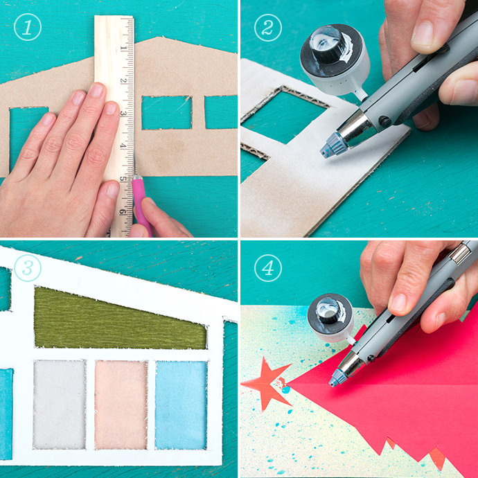 درست کردن کارت پستال سه بعدی
