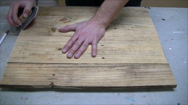 درست کردن تابلوی چوبی