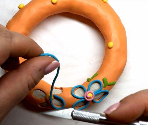 درست کردن دستبند خمیری