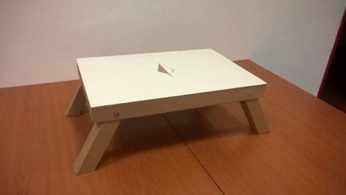 آموزش درست کردن میز لپ تاپ تاشو مقاوم با کارتن
