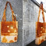 آموزش درست کردن کیف دوشی با پارچه رنگ شده