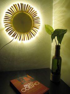 آموزش ساخت لامپ دیواری با طرح گل آفتاب گردان با چوب بستنی