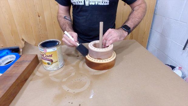 درست کردن جاقلمی چوبی