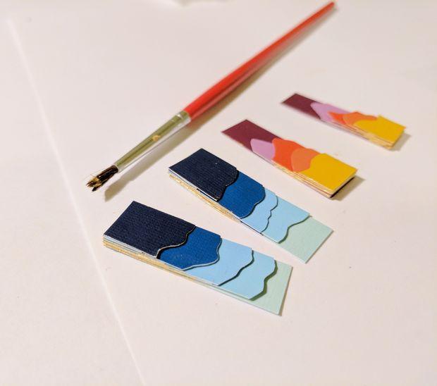 درست کردن گوشواره کاغذی