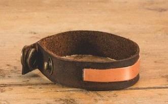 آموزش درست کردن دستبند چرمی مسی با روشی ساده