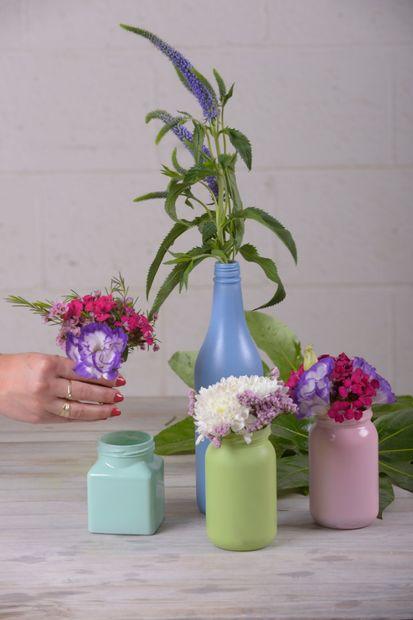 درست کردن گلدان گل شیشه ای