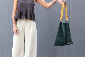 آموزش دوختن کیف دوشی جیر زنانه شیک و جادار